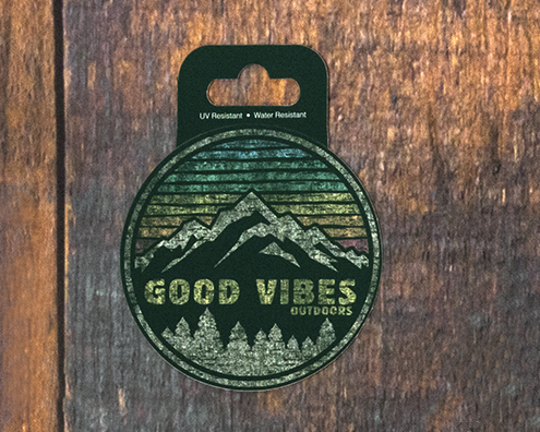 Image For Good Vibes Outdoor Sticker
