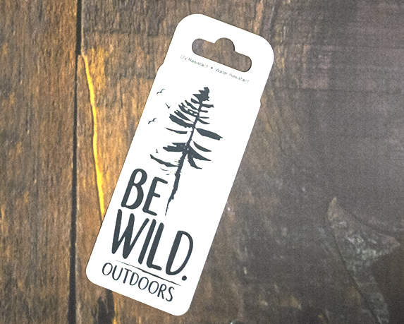 Image For Be Wild Outdoors Sticker