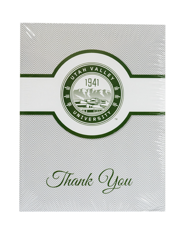 Cover Image For University Seal<br>Thank You Card