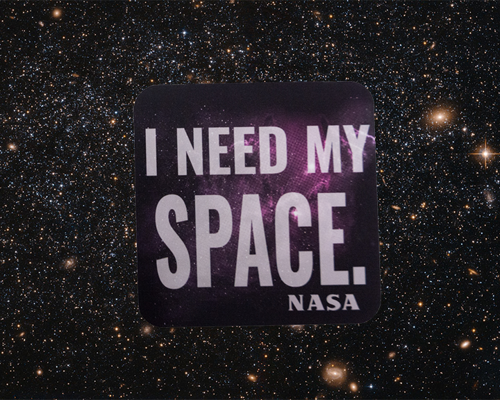 Image For NASA I NEED MY SPACE STICKER