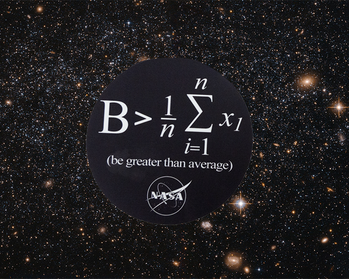 Image For NASA GREATER THAN AVERAGE STICKER