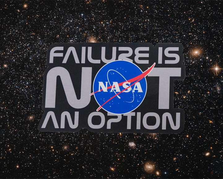 Image For NASA FAILURE IS NOT AN OPTION STICKER