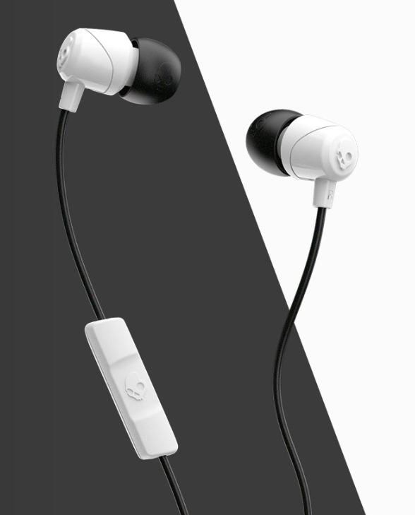 Image For Skullcandy Jib Wired In-ear Headphones<br>White and Black