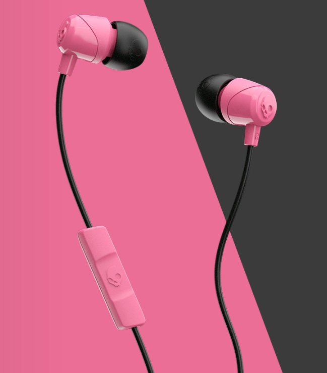 Image For Skullcandy Jib Wired In-Ear Headphones<br>Pink And Black