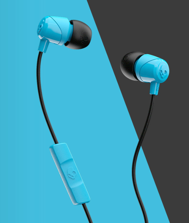 Image For Skullcandy Jib Wired In-Ear Headphones<br>Blue And Black