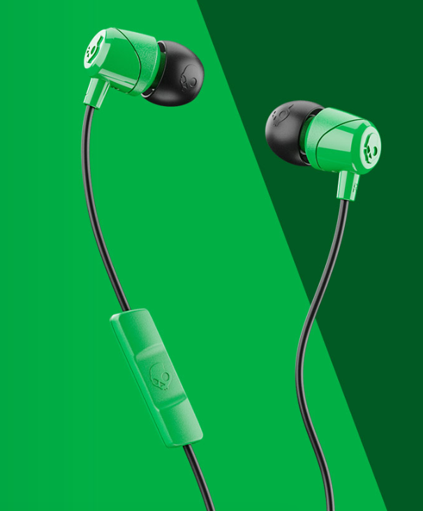Image For Skullcandy Jib Wired In-Ear Headphones<br>Green And Black