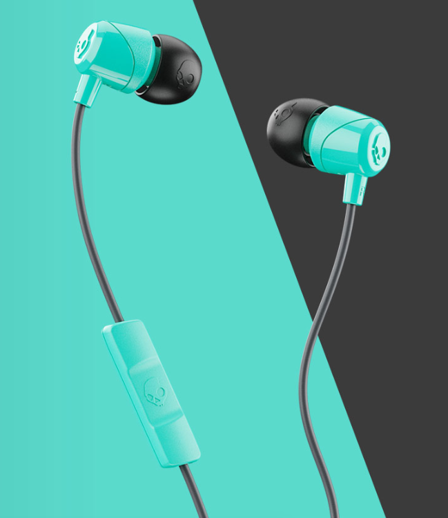 Image For Skullcandy Jib Wired In-Ear Headphones<br>Miami And Black