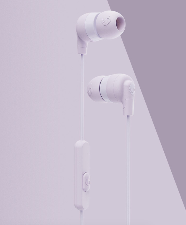 Image For Skullcandy Ink'd+ Wired Earbuds<br>Pink/Lavender