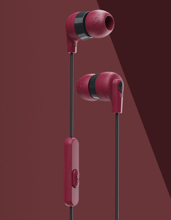 Image For Skullcandy Ink'd+ Wired Earbuds<br>Moab/Red/Black