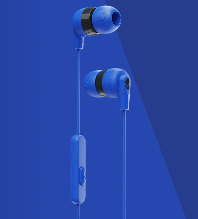 Image For Skullcandy Ink'd+ Wired Earbuds<br>Cobalt Blue