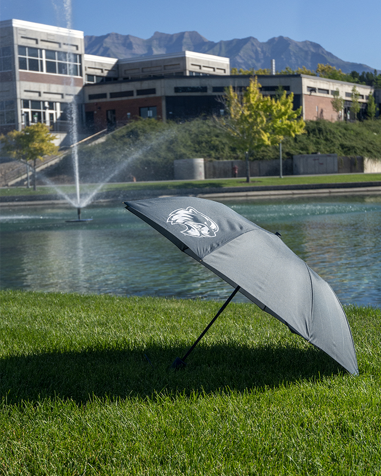Image For Wolverine Charcoal Folding Umbrella