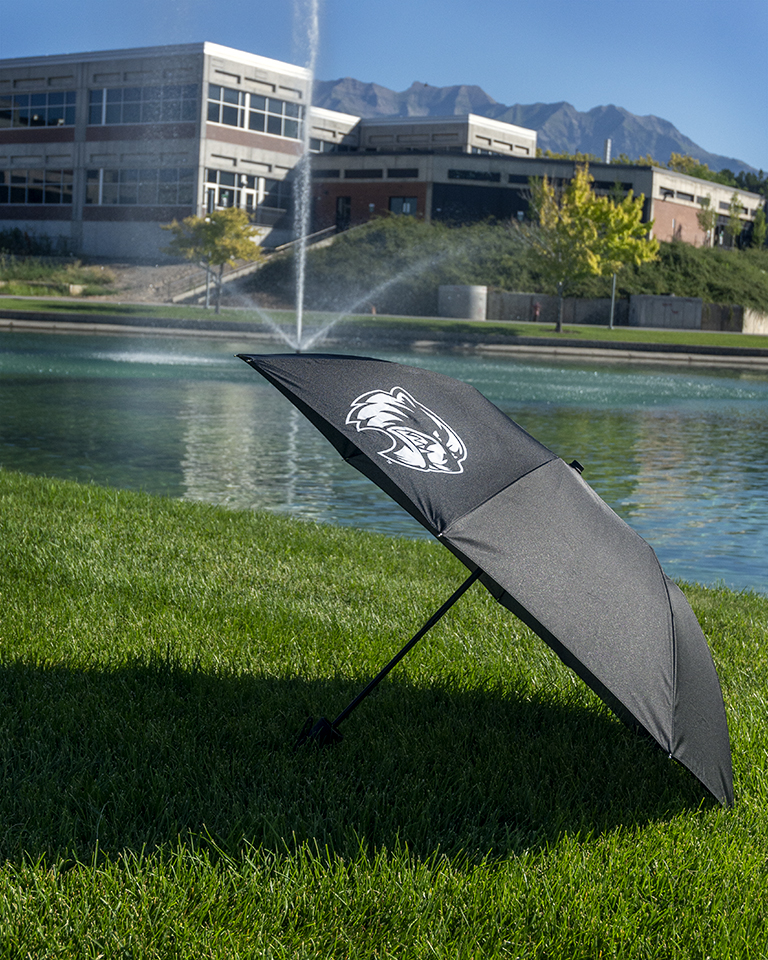 Image For Wolverine Black Folding Umbrella