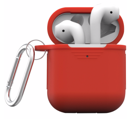 Image For iEssentials Protective Case For Apple AirPods<br>Red