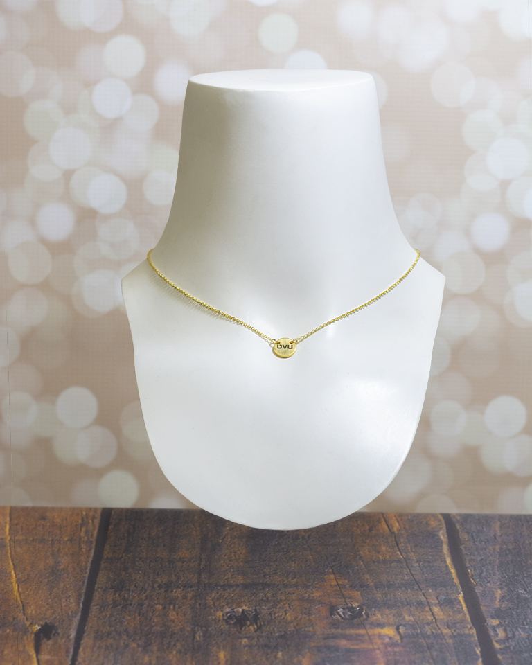 Image For Adjustable Charm Necklace<br>Gold