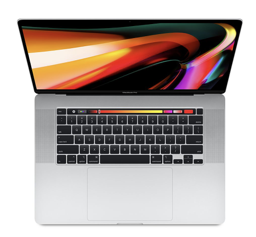 "Image For Macbook Pro 16"" <br> 512GB <br> Silver <br> Touch Bar"
