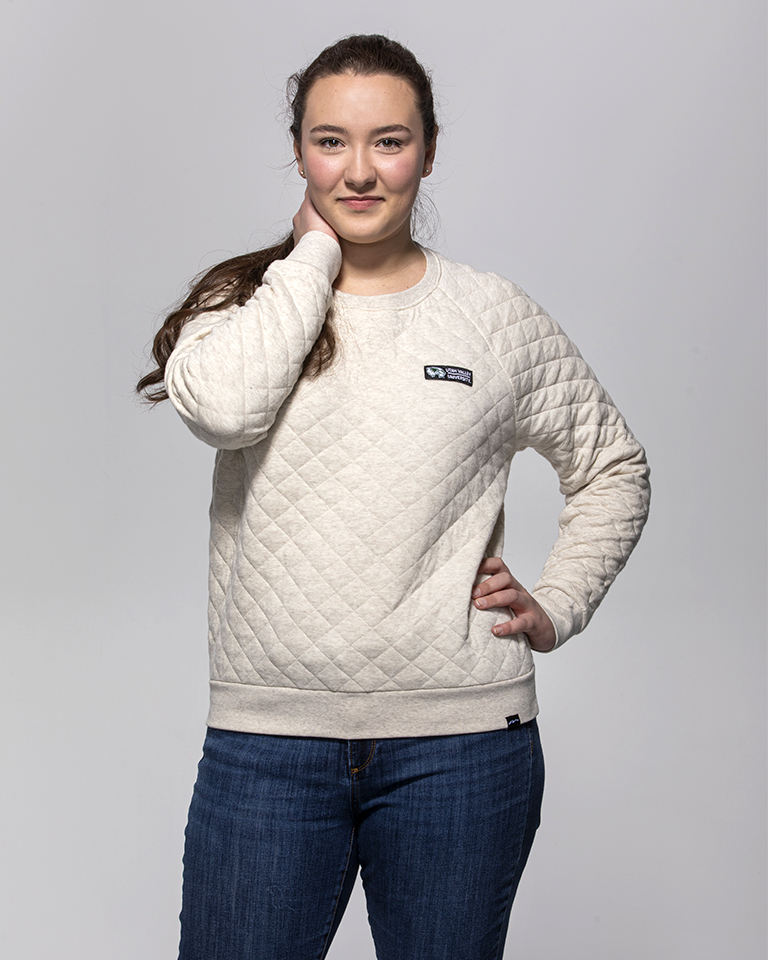 Image For Tahoe Quilted Crew<br>Cream