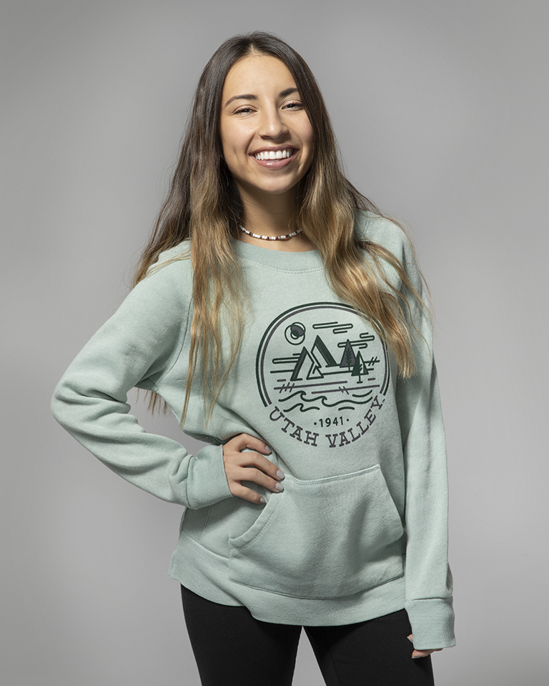 Image For Women's Cut<br>MV Sport<br>Greenastone Crew Neck