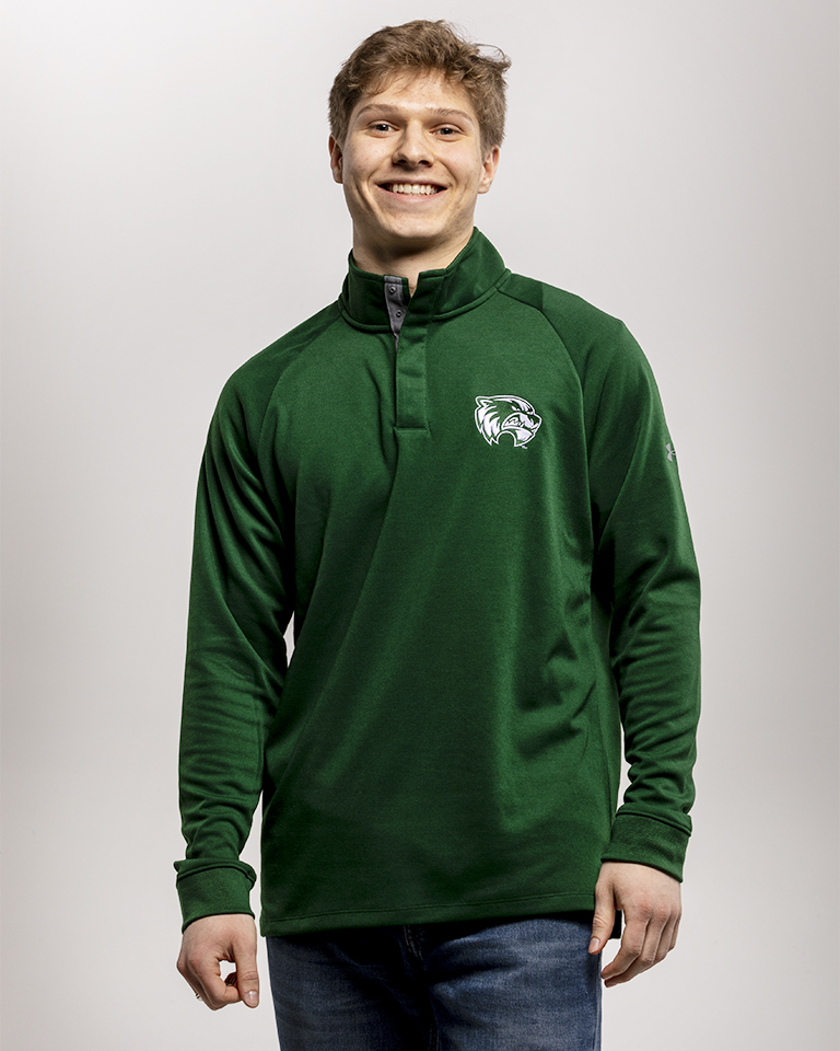 Image For Under Armour<br>Green 1/4 Snap<br>Long Sleeve