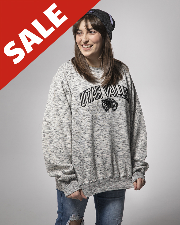 Image For MV Sport Salt And Pepper<br>Crew Sweatshirt