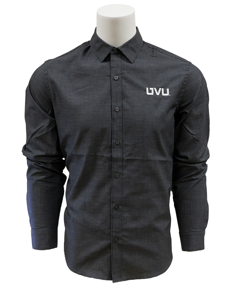 Image For Men's Fit Black/Gray Button-up