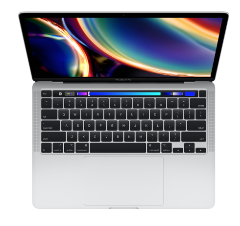 "Image For MacBook Pro 13"" 2020<br>2.0GHz 512GB<br> Silver Touch Bar"
