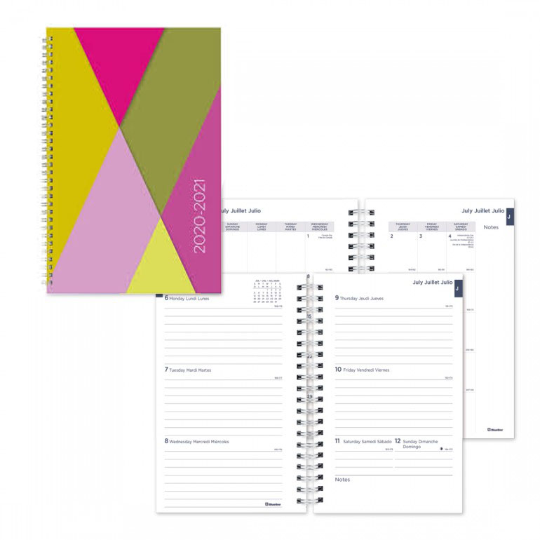 Image For Academic Weekly Planner Geo 2020-21 - Pink