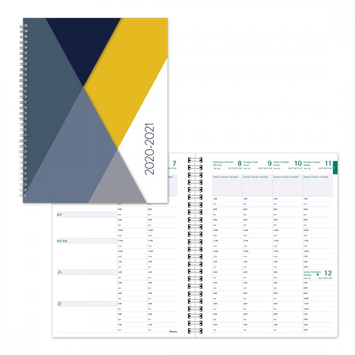 Image For Academic Weekly Planner Geo 2020-21 - Grey
