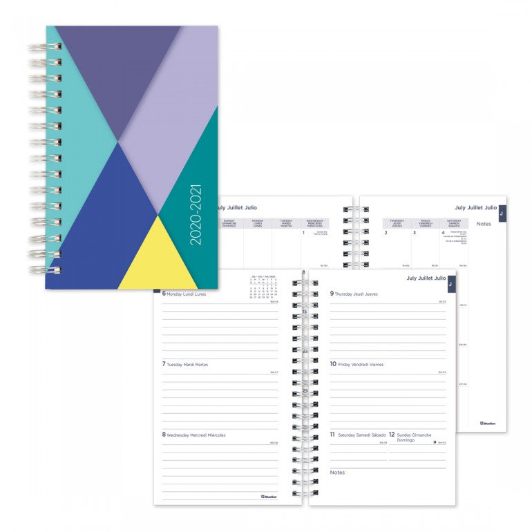 Image For Academic Weekly Planner Geo 2020-21 - Purple