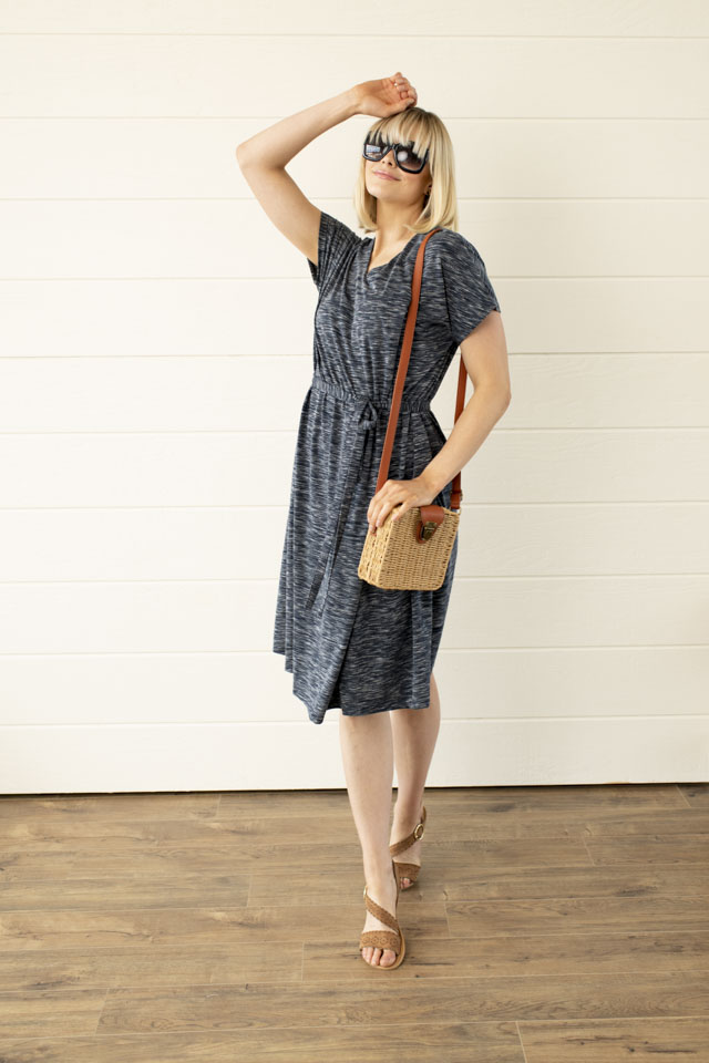 Image For Wrap Waist<br>Tie Dress