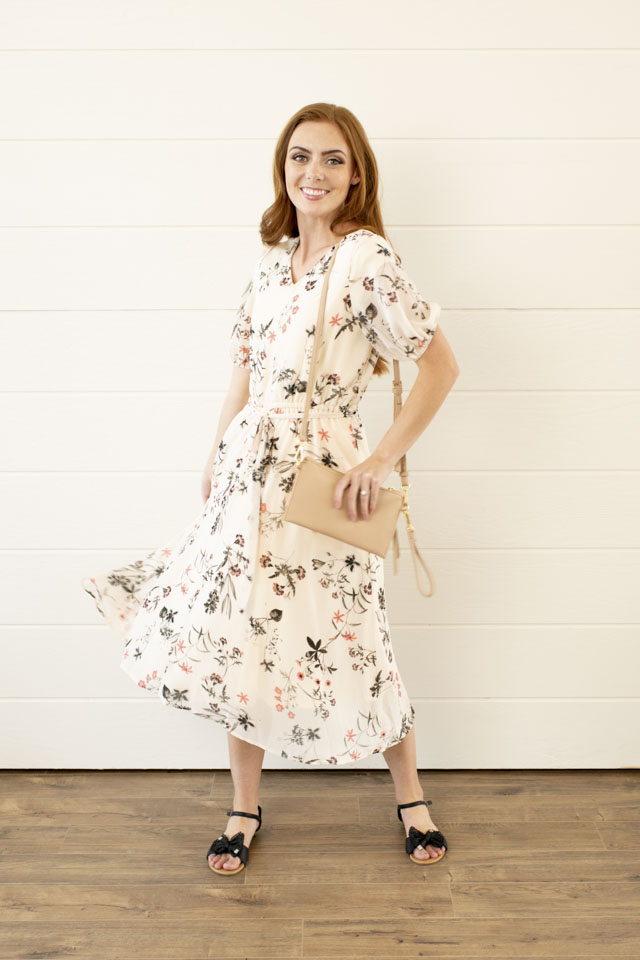 Image For A-Line Center Seam<br>Floral Dress