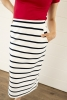 Cover Image for Striped Midi Skirt<br>with Pockets