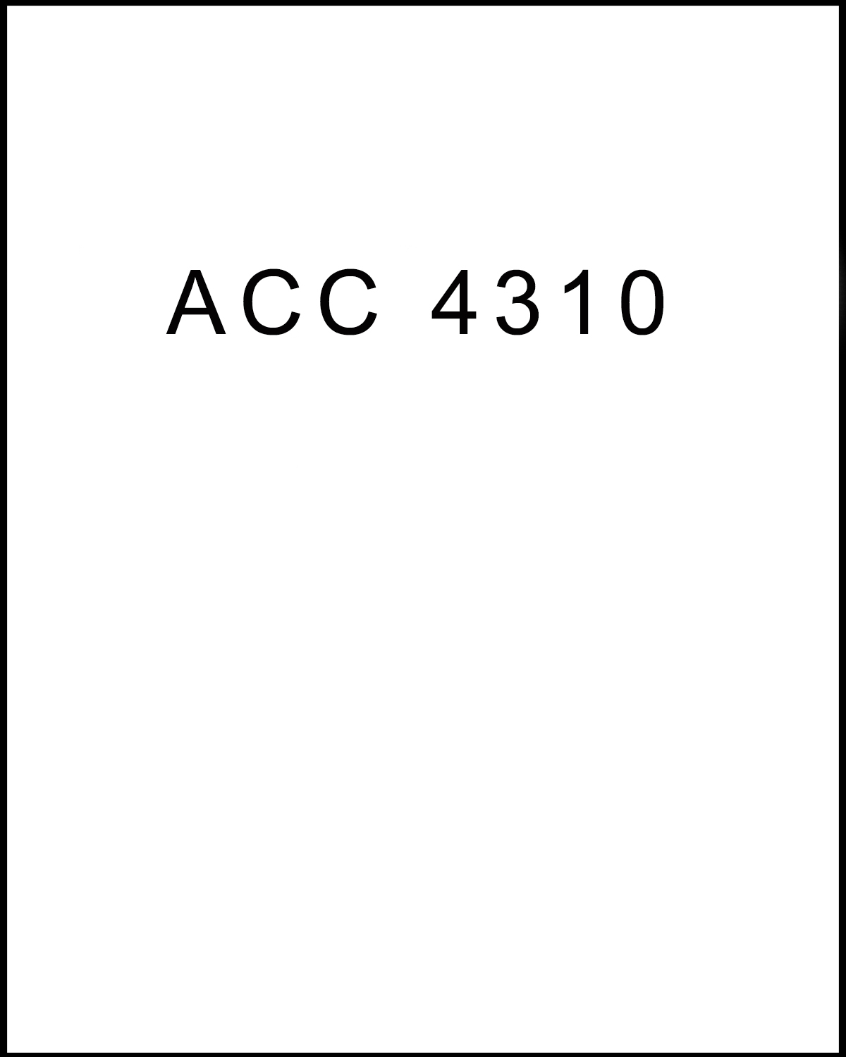 Image For ACC 4310<br>Professor Kari Olsen