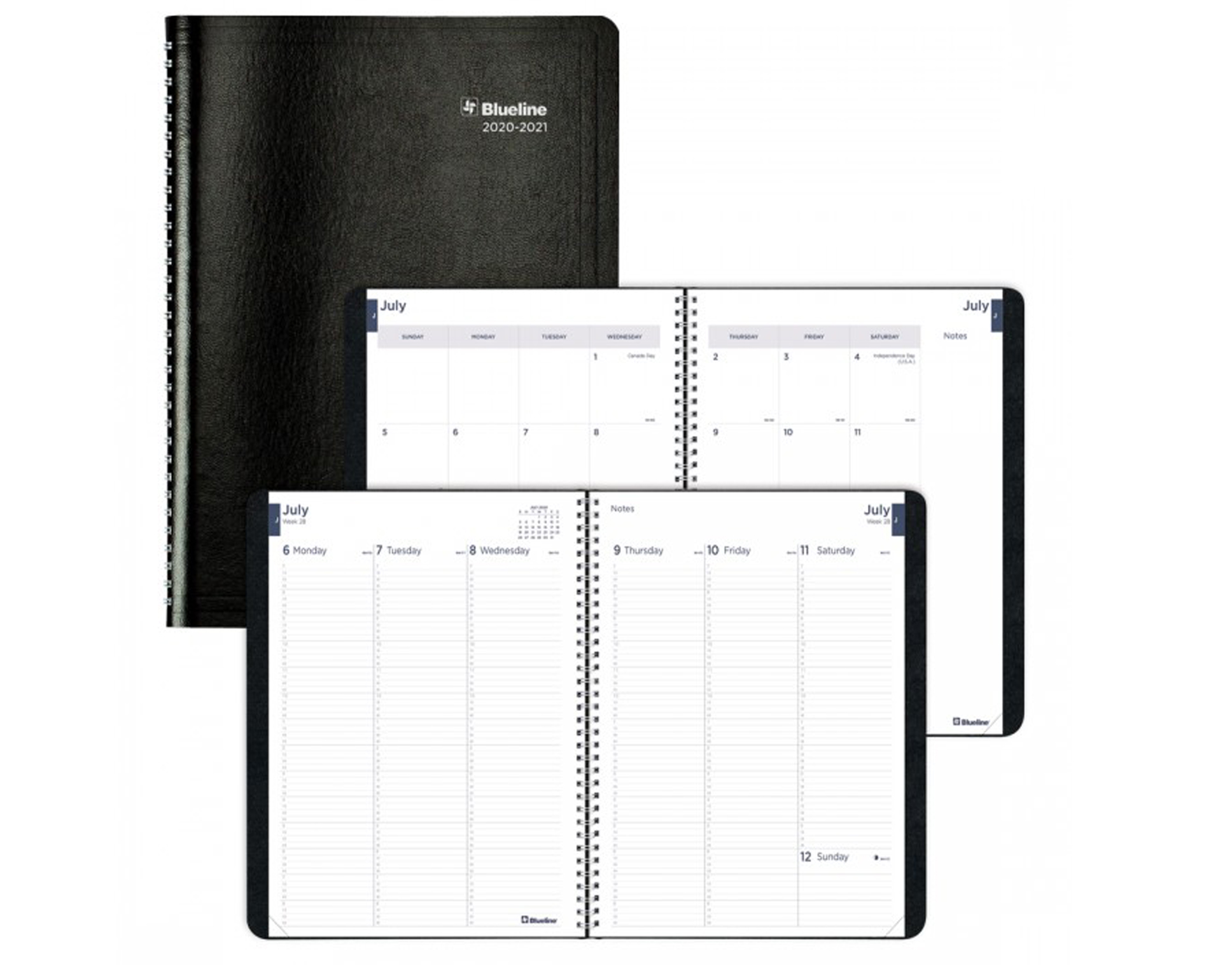 Image For Blueline Black Weekly Academic Planner