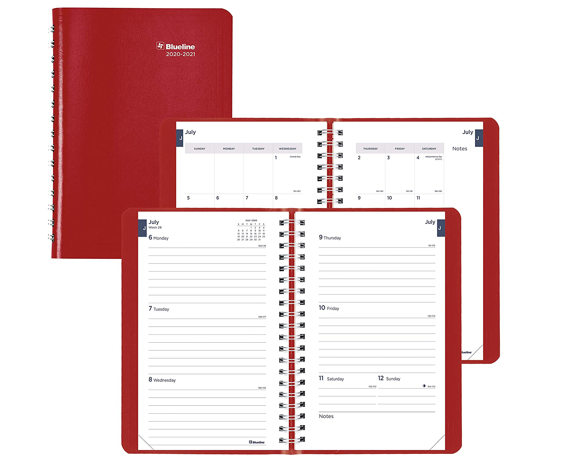 Image For Blueline Red Weekly Academic Planner