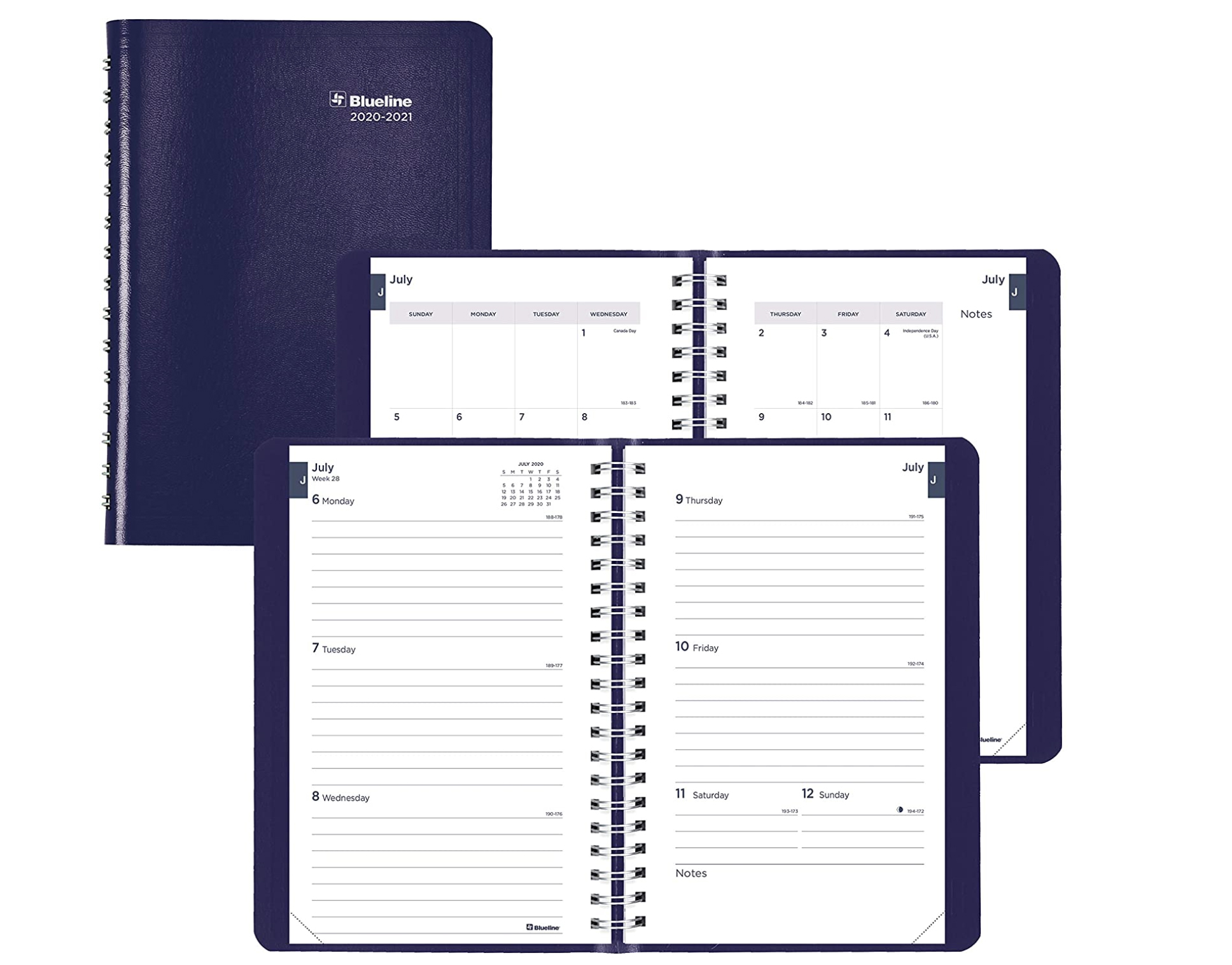 Image For Blueline Blue Weekly Academic Planner