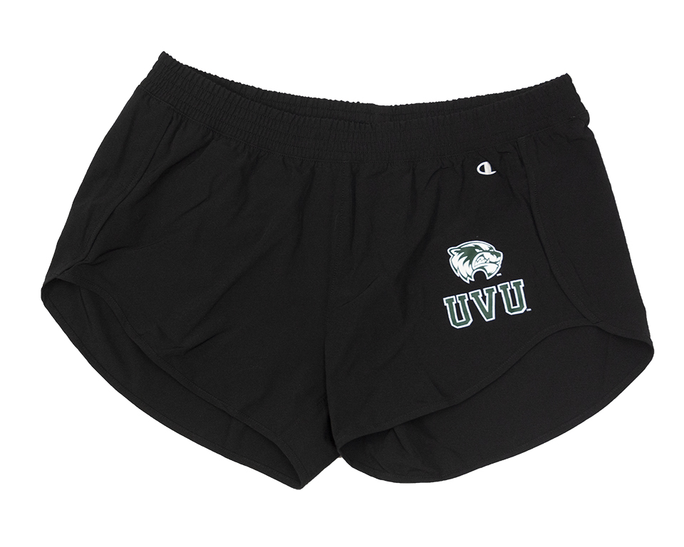 Image For Womens Fit<br>Black Champion Shorts