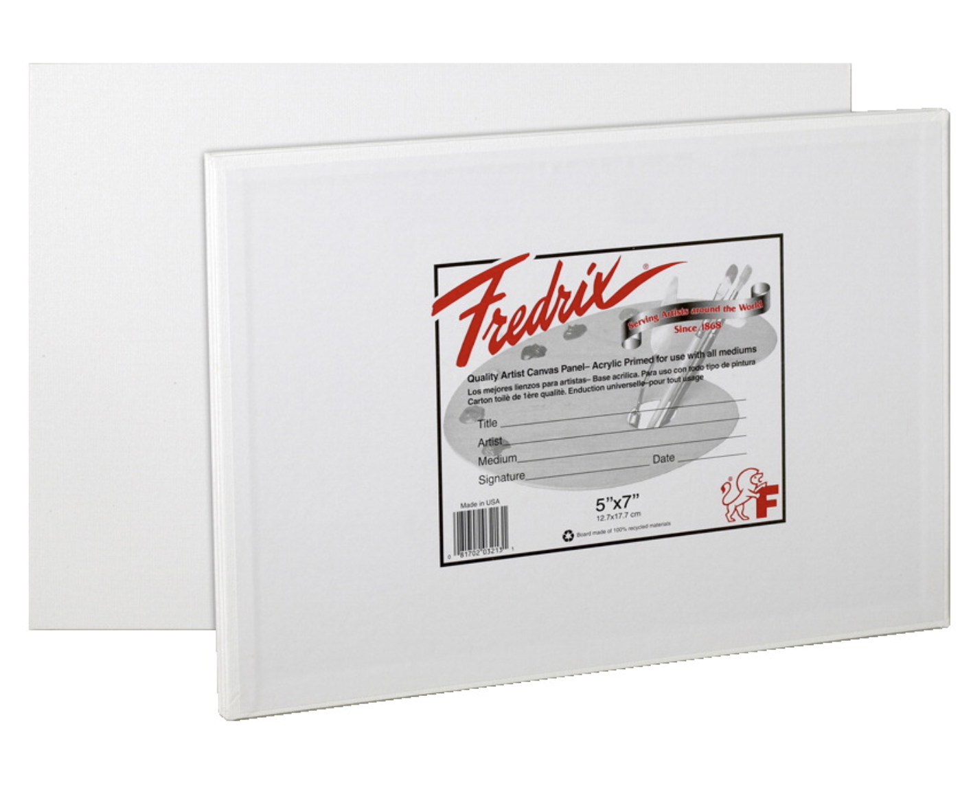Image For Fredrix: Canvas Board 5X7 3PK