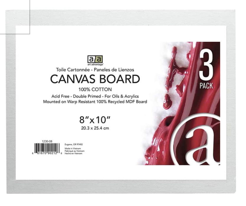 Image For Canvas Board 8X10 3pack