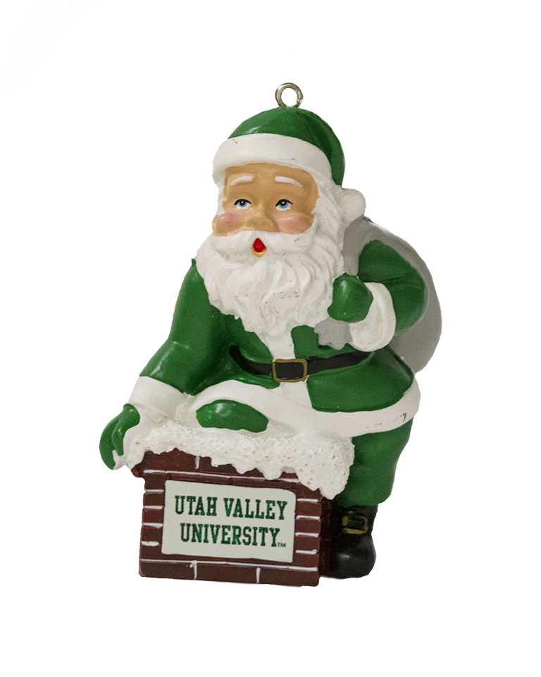 Image For Ceramic Rooftop Santa Ornament