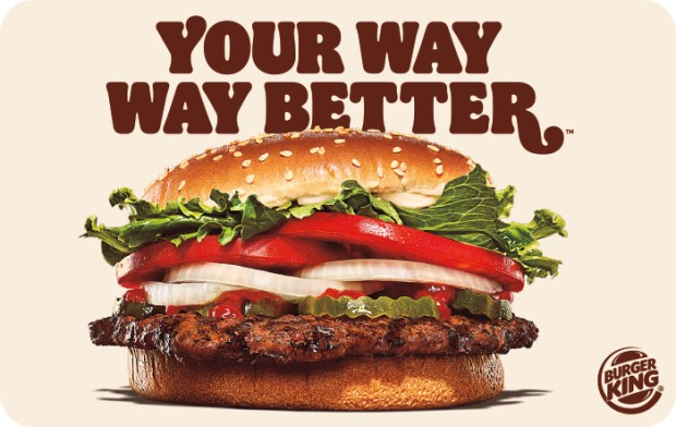 Cover Image For BURGER KING GC $10