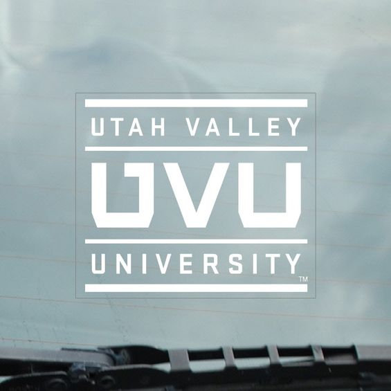 Image For UVU Static Cling White Decal