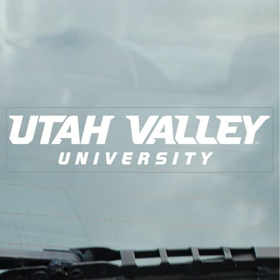 Image For Utah Valley Static Cling Decal