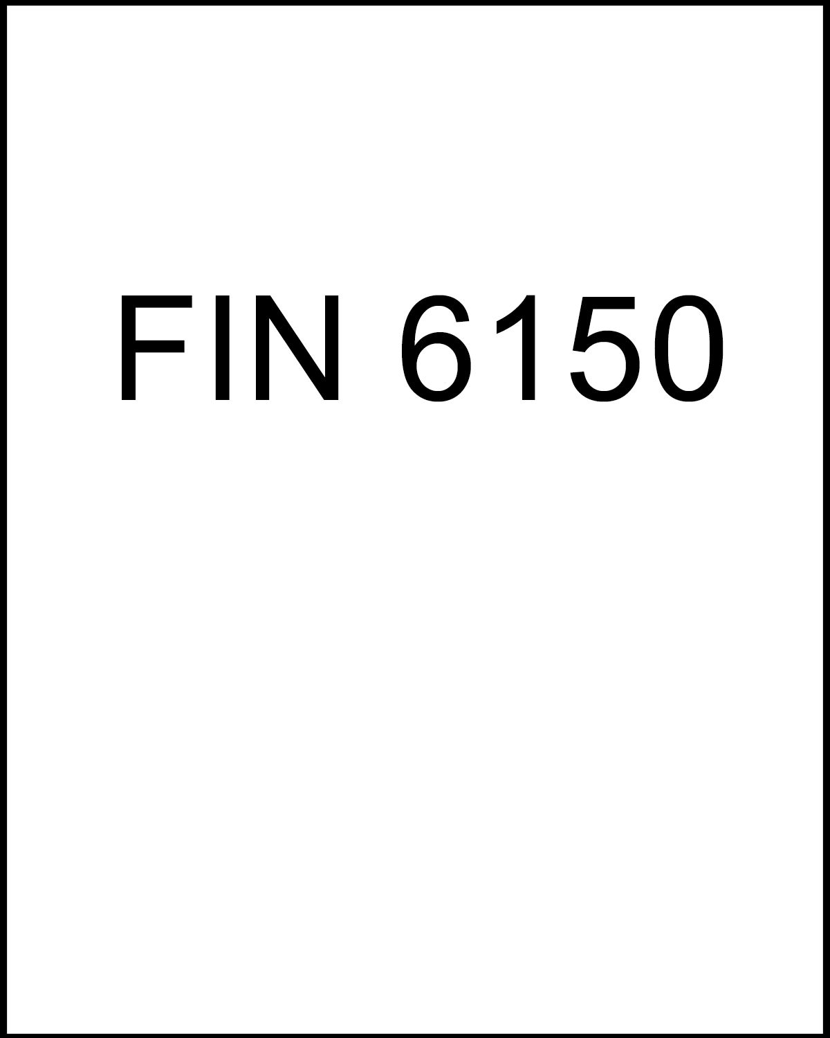 Image For Finance 6150