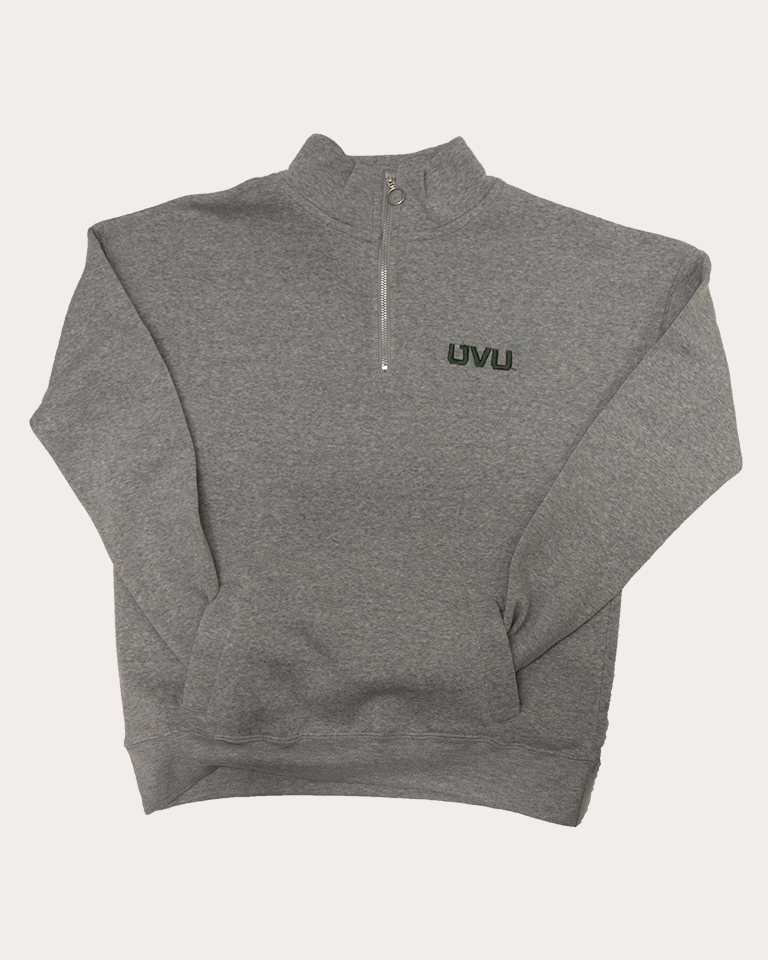 Image For MV Sport Dakota Heather Quarter Zip