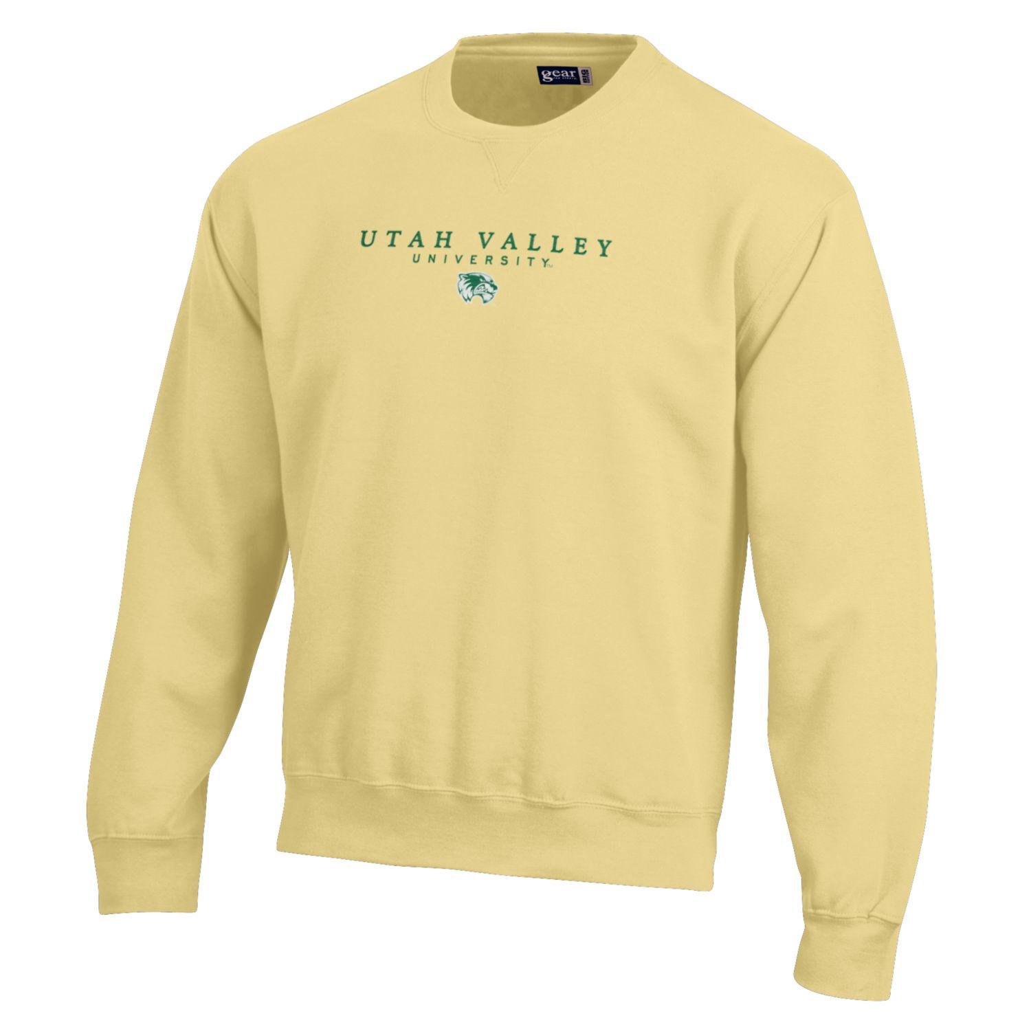 Image For Big Cotton Butter-Yellow Crew Neck